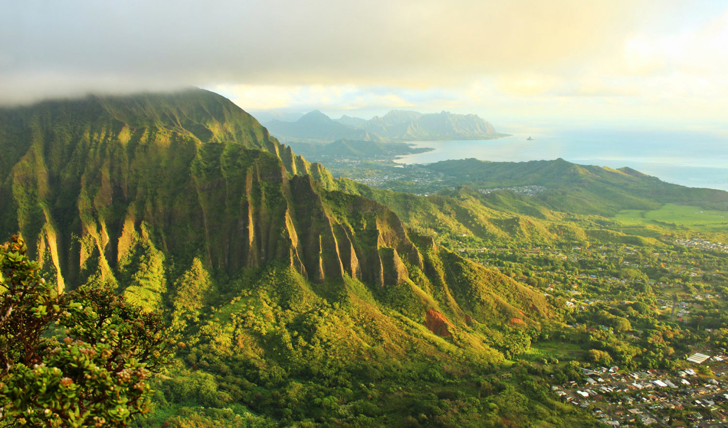 The lush mountains of windward Oahu, Hawaii.